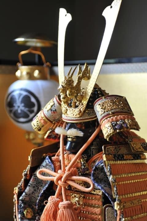 Prunkvolle Samurai-Rüstung