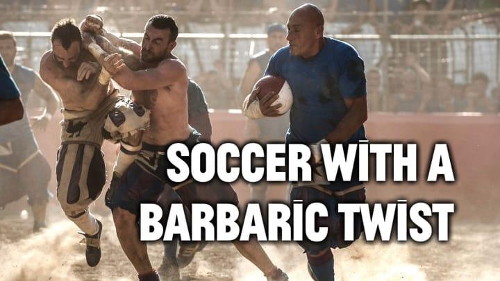 Historischer Fußball gemischt mit Kampfsport – Calcio Storico
