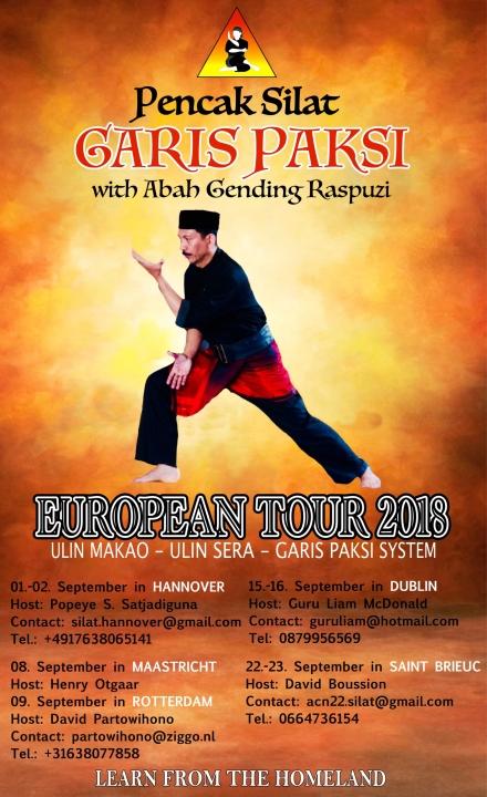 Flyer Garis Paski Europa-Tournee 2018