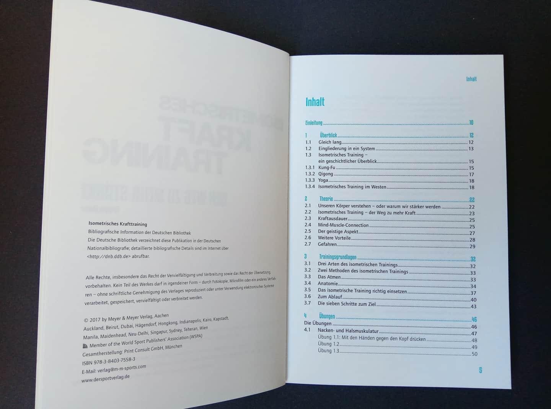 Isometrisches Krafttraining Inhaltsverzeichnis