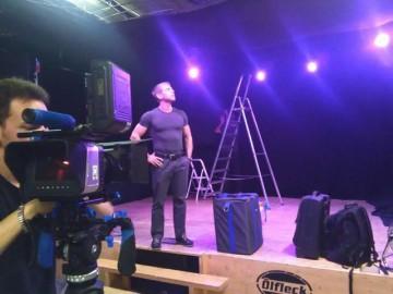 Martin Sewer am Filmdreh Set 2