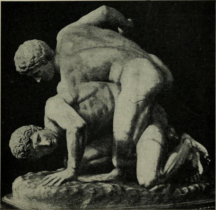 Pankration Nachbildung aus Stein
