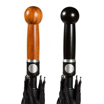 Selbstverteidigungsschirm Knauf Varianten in schwarzer oder brauner Farbe