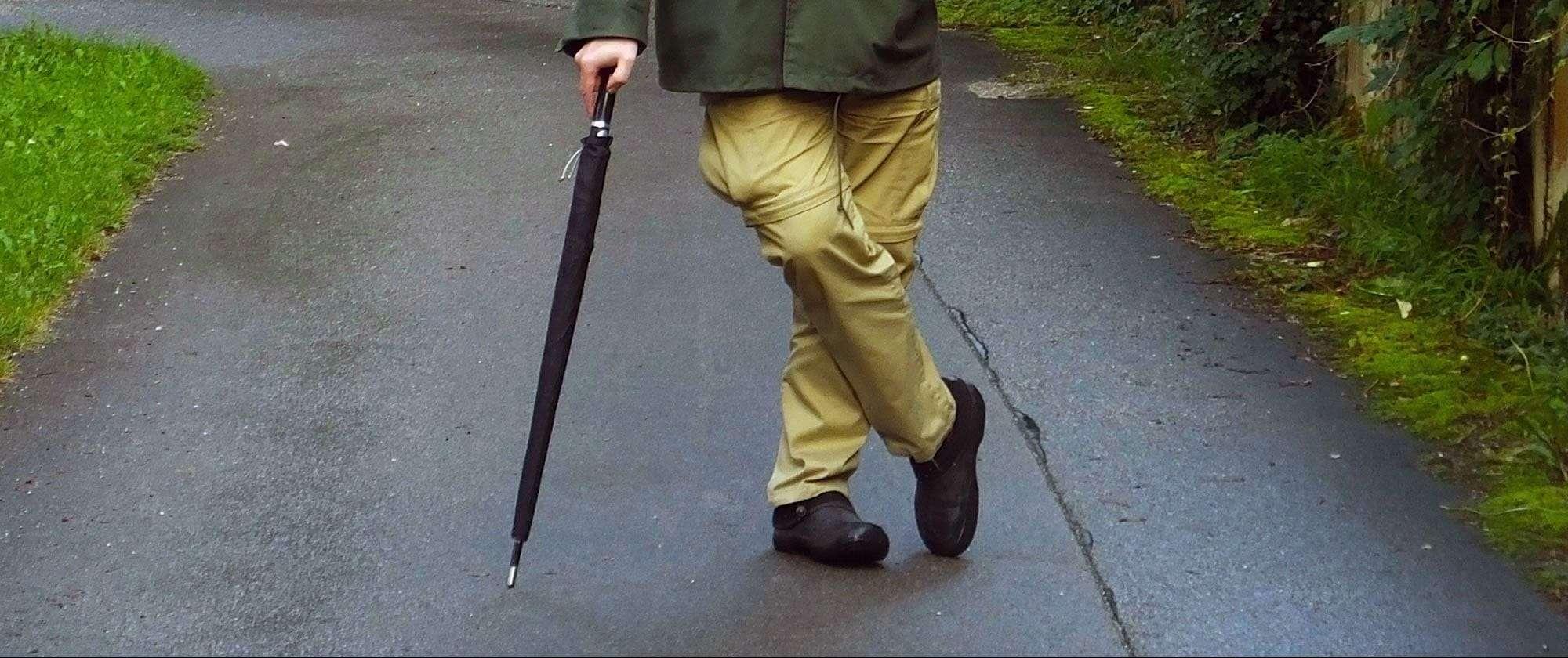 Sicherer Spaziergang mit dem SV-Schirm