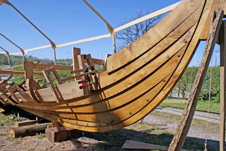 Original Nachbau eines Wikinger Schiffs