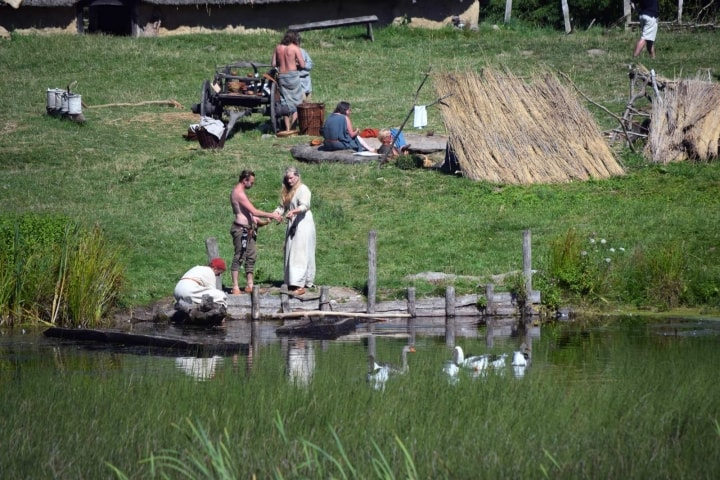 Wikinger Siedlung am Wasser
