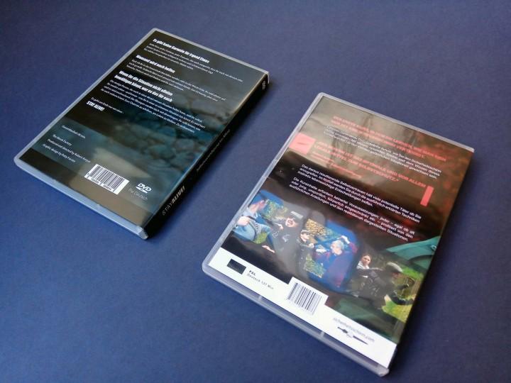 Rückseite der zwei Lehr-DVD's
